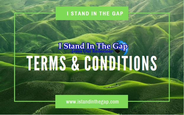 Terms & Conditions - I stand in the gap